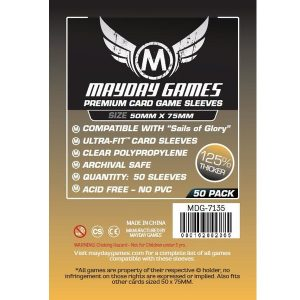 SLEEVES Mayday Premium Custom 50x75 mm 01